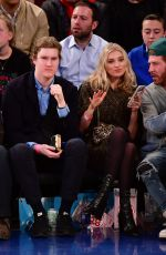 Elsa Hosk At New York Knicks Vs Cleveland Cavaliers at Madison Square Garden in NYC