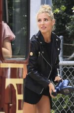 Elsa Pataky Poses wearing all black and leather for a fashion photo shoot in Byron Bay, Australia