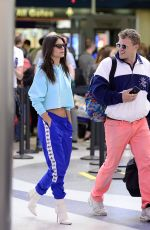 Emily Ratajkowski Arrives in Los Angeles with her husband