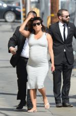 Eva Longoria Shows Off Massive 7-Months Baby Bump At Jimmy Kimmel Live, in Hollywood
