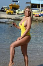 Frankie Essex In Yellow Swimsuit in Turkey
