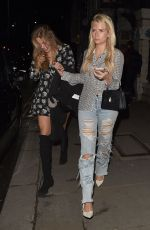 Frankie Gaff, Lottie Moss, Emily Blackwell and Sophie Habboo at the Bluebird Chelsea restaurant in London