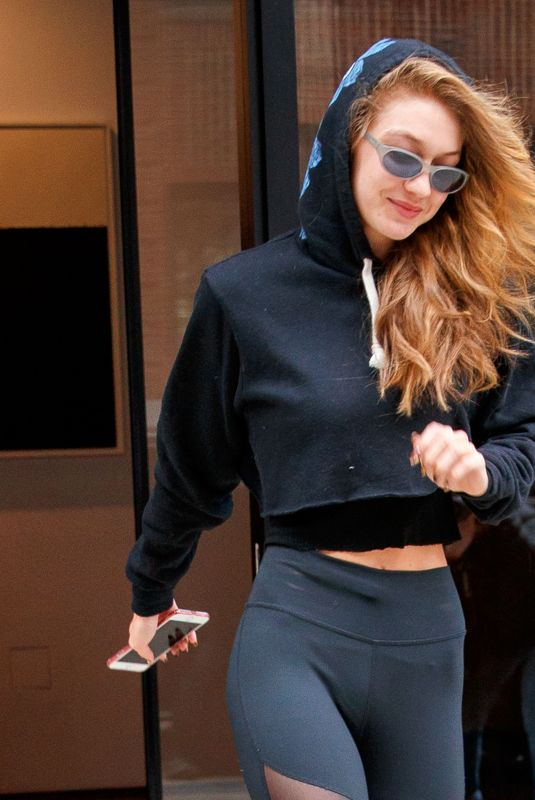 Gigi Hadid Heading to a photo shoot at MILK Studios in New York City
