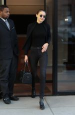 Gigi Hadid Steps out in all black in NYC
