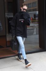 Gigi Hadid Steps out to go to a photoshoot in NYC