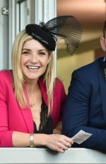 Helen Skelton At Grand National Day during the 2018 Aintree Festival in Liverpool
