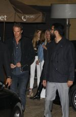 Kaia Gerber Out for a dinner with Randy and Presley Gerber in LA