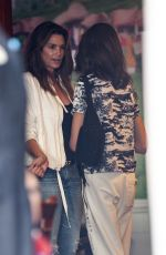 Kaia Gerber Out grabbing some coffee with her mom at Urth Cafe in Beverly HIlls