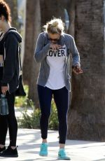 Kaley Cuoco Rocking a white t-shirt that read