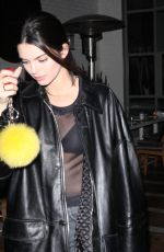 Kendall Jenner Ends her evening late after church with friends in Beverly Hills