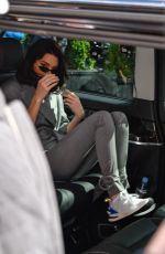 Kendall Jenner Leaves her hotel and goes to an Adidas store in Paris, France