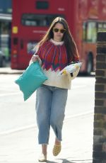 Lacey Turner Seen running errands and shopping in Poundland - London