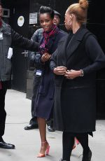 """Letitia Wright Leaving """"Good Morning America"""" after promoting """"Avengers: Infinity War"""" in New York City"""