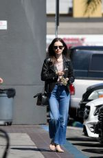 Lily Collins Leaving the Sunset Foot Spa in Los Angeles