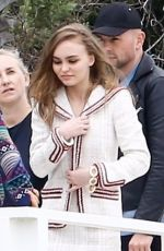 Lily-Rose Depp Brings a touch of sophistication to a moody photoshoot at a beach in Malibu