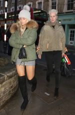 Lottie Moss and her mother Inger Moss pictured leaving Gola restaurant in London