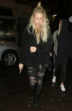 Lottie Moss On a night out at Soho House with friends in London, UK