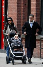 Lucy Liu Enjoys a day out with her son and a friend