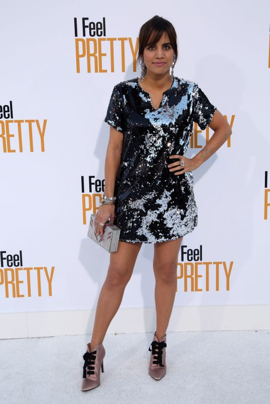 Natalie Morales At World Premiere of I Feel Pretty at Westwood Village Theater