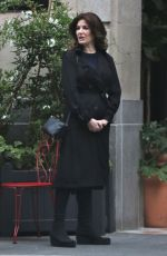 Nigella Lawson and her assistant are spotted outside of her trendy hotel