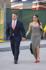 Nikki Bella & John Cena Ahead of the WWE Wrestlemania 34 Hall Of Fame 2018 in New Orleans, Louisiana