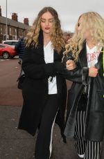 Perrie Edwards Spotted arriving at Anfield in Liverpool