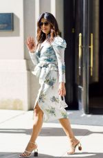 Priyanka Chopra Is seen wearing a dress from the Brock Collection while out and about in Midtown in New York City