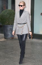 Rosie Huntington-Whiteley Shows off her high fashion look stepping out in New York