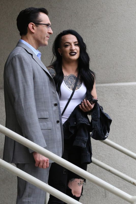 Ruby Riot Seen arriving to the Wrestlemania 34 Hall of Fame ceremony in New Orleans. Louisiana