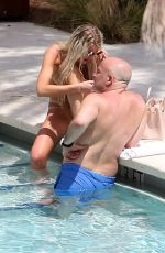 Samantha Rowley Seen at the pool of her hotel in Miami