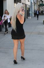 Sophia Vegas Shows off her legs and cleavage while out running errands in Beverly Hills