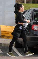 Stephanie Davis Seen leaving the gym in Liverpool