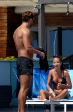 Yazmin Oukhellou Shows off her bronzed body on a break in Spain