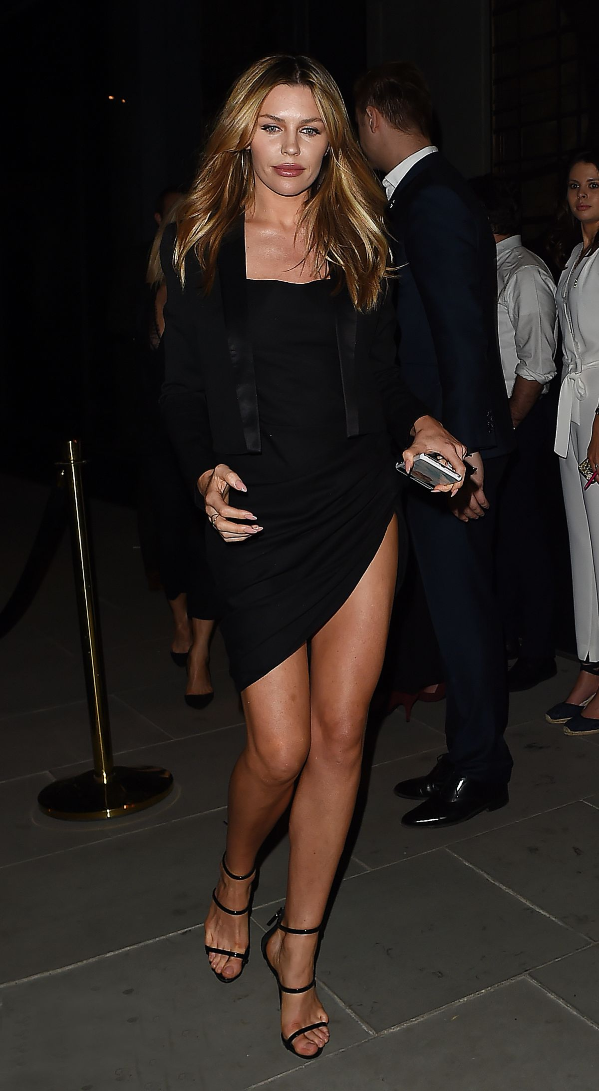 Nobu Hotel Shoreditch: Abbey Clancy Leaving The Nobu Hotel Shoreditch Launch