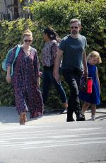 Amy Adams With her husband Darren Le Gallo and their daughter Aviana in LA