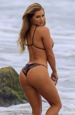 Amy Lee Summers Doing a photoshoot for 138 Water in Malibu