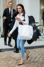 Anna Andres Seen a casual chic look at the Martinez Hotel in Cannes
