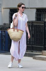 Anne Hathaway Out in New York City