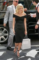 Ava Phillippe Looking chic in a black dress in New York City