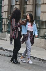 Brittany Snow, DeWanda Wise, Gina Rodriguez Filmed Smoking a Fake Joint on the Set of Someone Great in New York