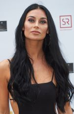 Cally Jane Beech At World Premiere of Bromley Boys held at Wembley Stadium, London