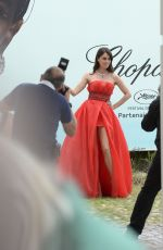 Catrinel Menghia Seen in Cannes