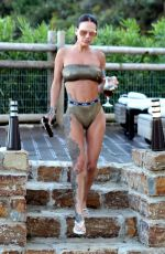 Chantelle Connelly Enjoys a glass of Sangria while on holiday in Marbella