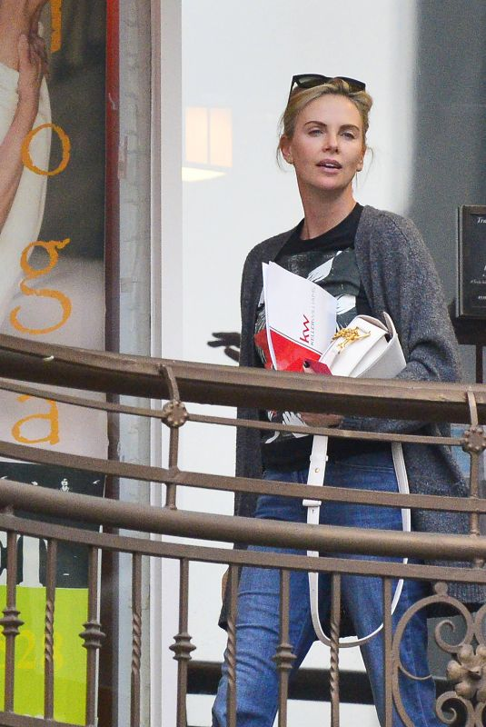 Charlize Theron At her favourite sushi restaurant in Los Angeles