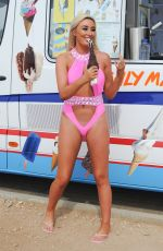 Chloe Crowhurst Having ice cream while on holiday in Cyprus
