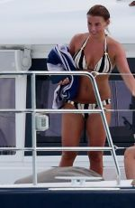 Coleen Rooney and family pictured on a catamaran in Barbados