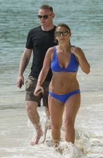 Coleen Rooney Enjoys a day at the beach in Barbados