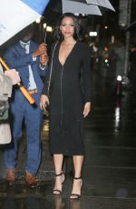 Corinne Foxx Arriving at The Late Show with Stephen Colbert in NYC