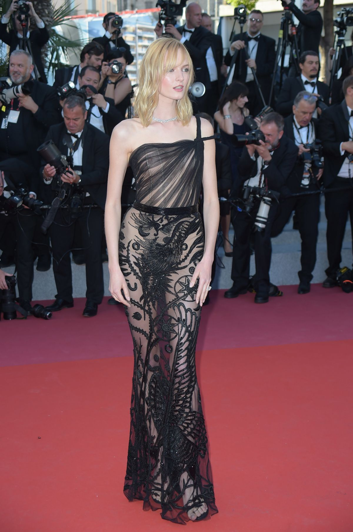 Daria Strokous At 'Ash Is Purest White' premiere, 71st Cannes Film Festival, France