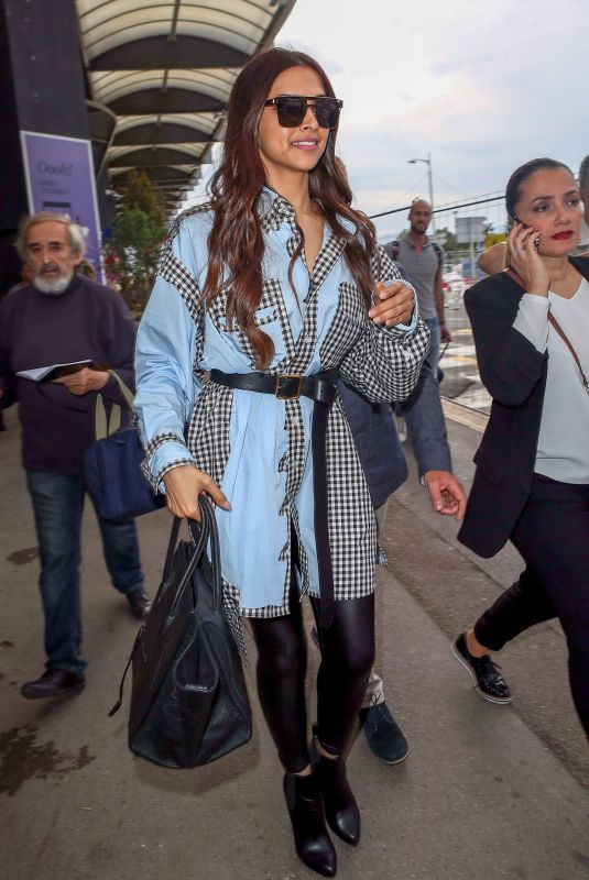 Deepika Padukone Arriving at Nice airport during the 71st annual Cannes Film Festival